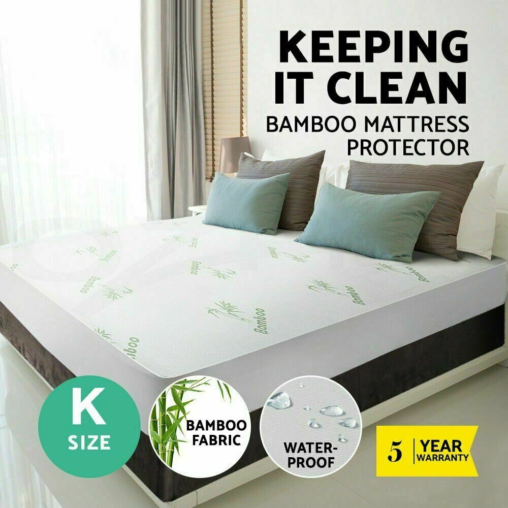 Premium Waterproof Bamboo Mattress Protector Cover Cooling Soft Mattress Cover Fitted Vinyl Free Bed Pad Covers