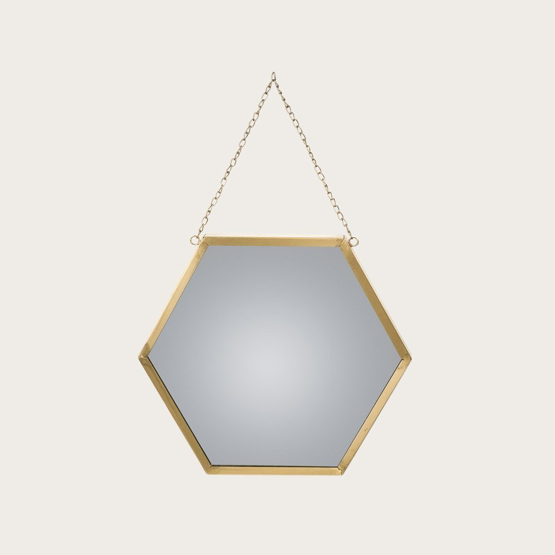 Gino Large Hexagonal Mirror