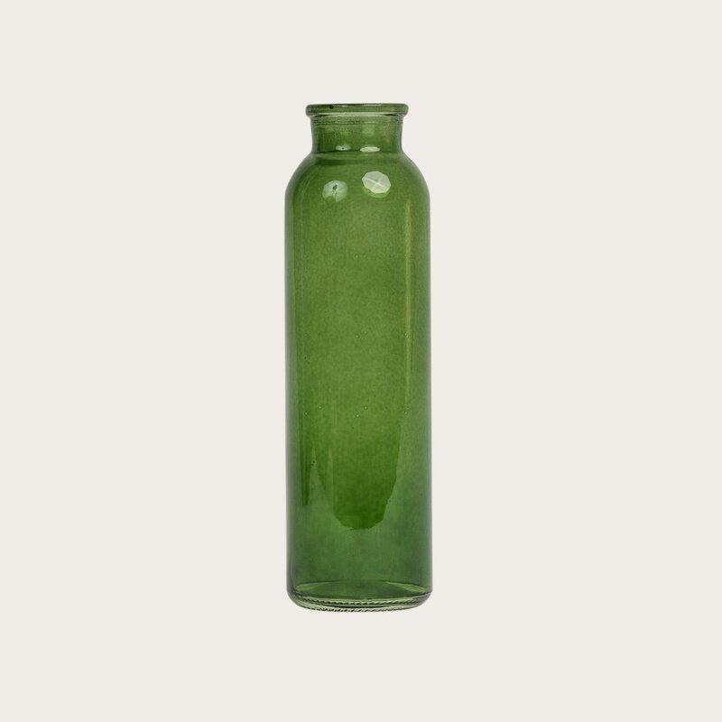 Iris Glass Vase in Green