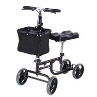 Yescom Steerable Knee Walker Scooter Mobility Alternative Crutches Wheelchair Basket
