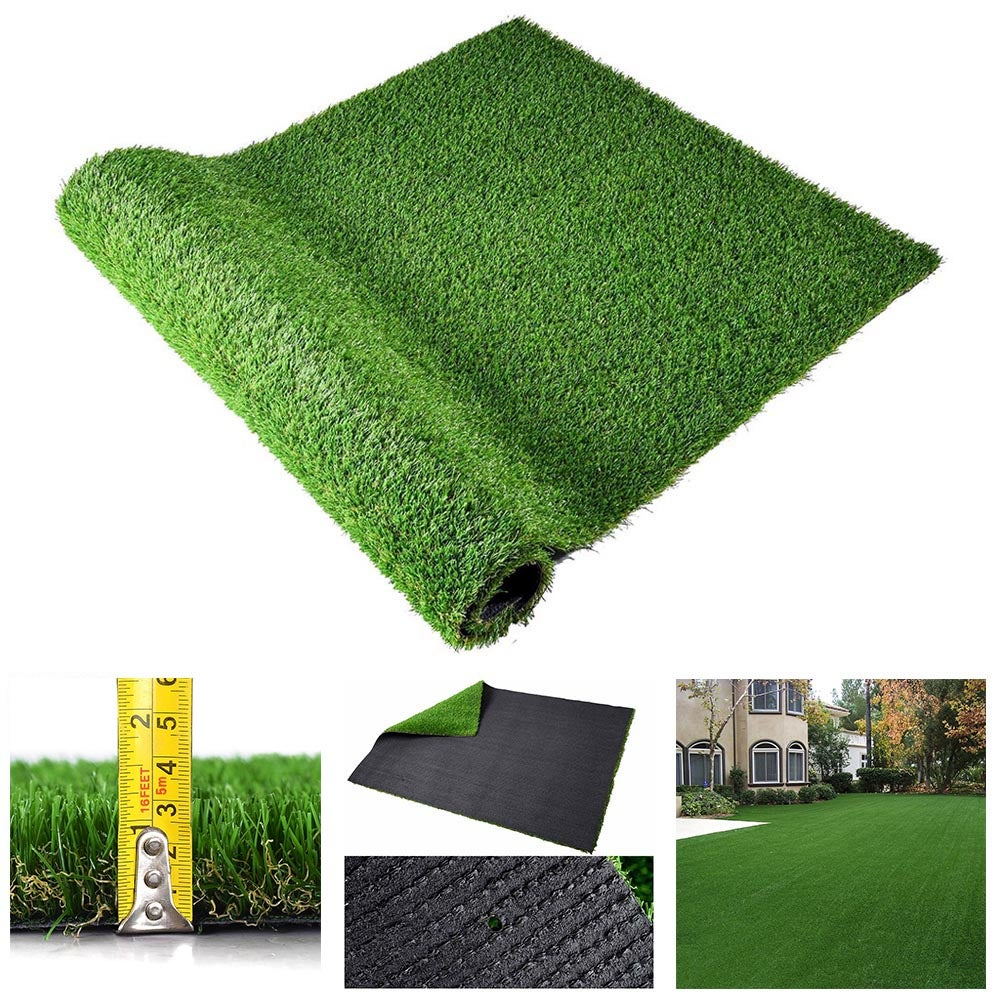 Yescom 1.5x1m Artificial Grass Mat Synthetic Turf Fake Lawn 3cm Thick with Drainge Hole