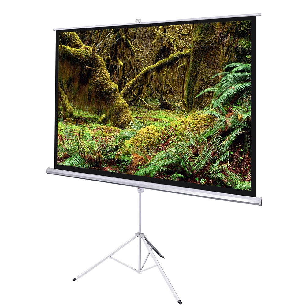 """Yescom 120"""" Portable Projector Projection Screen 4:3 Matte White Foldable Tripod Stand"""