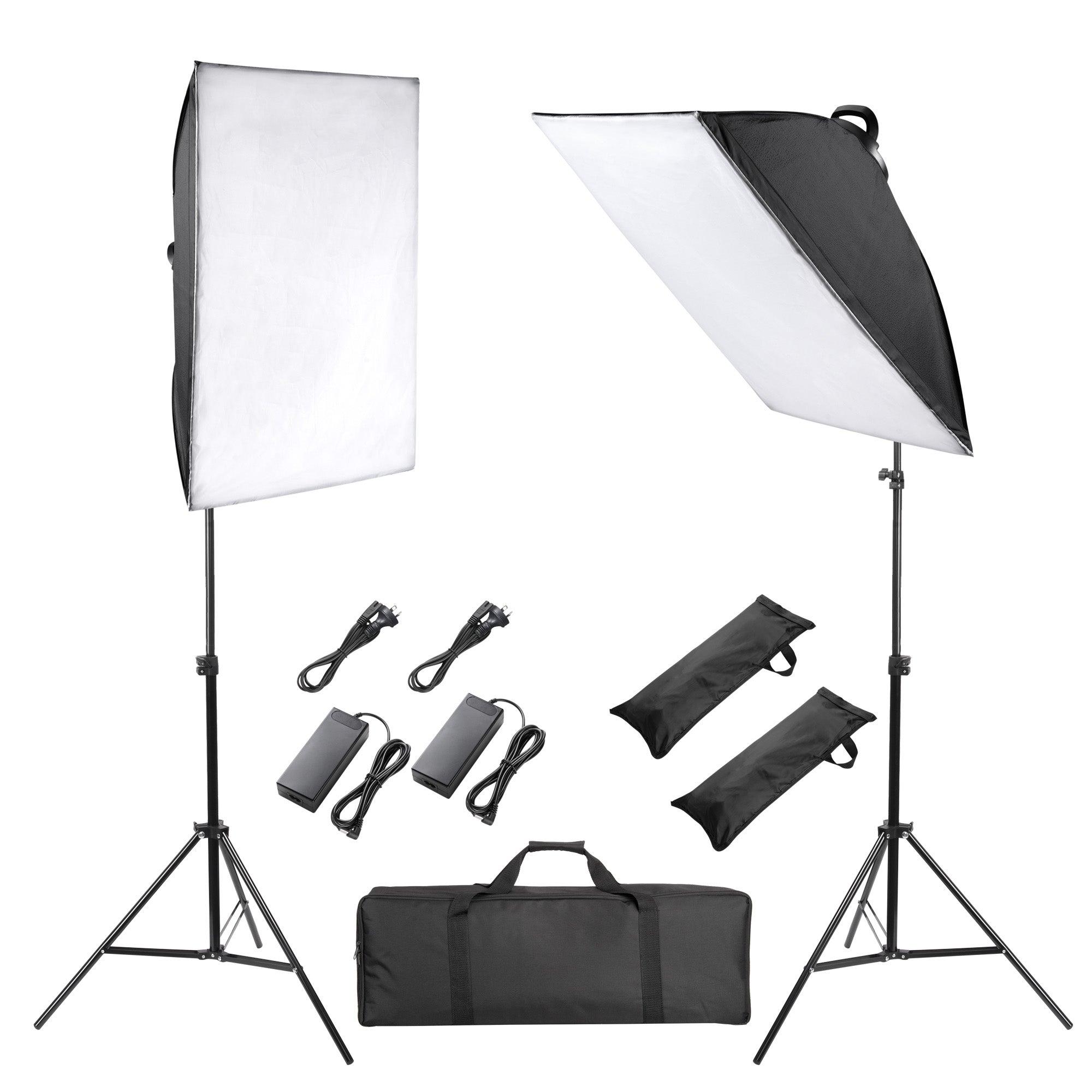 Yescom 2 Pack 126 LEDs Soft Box Dimmable Lighting Kit for Photo Live Studio Shooting