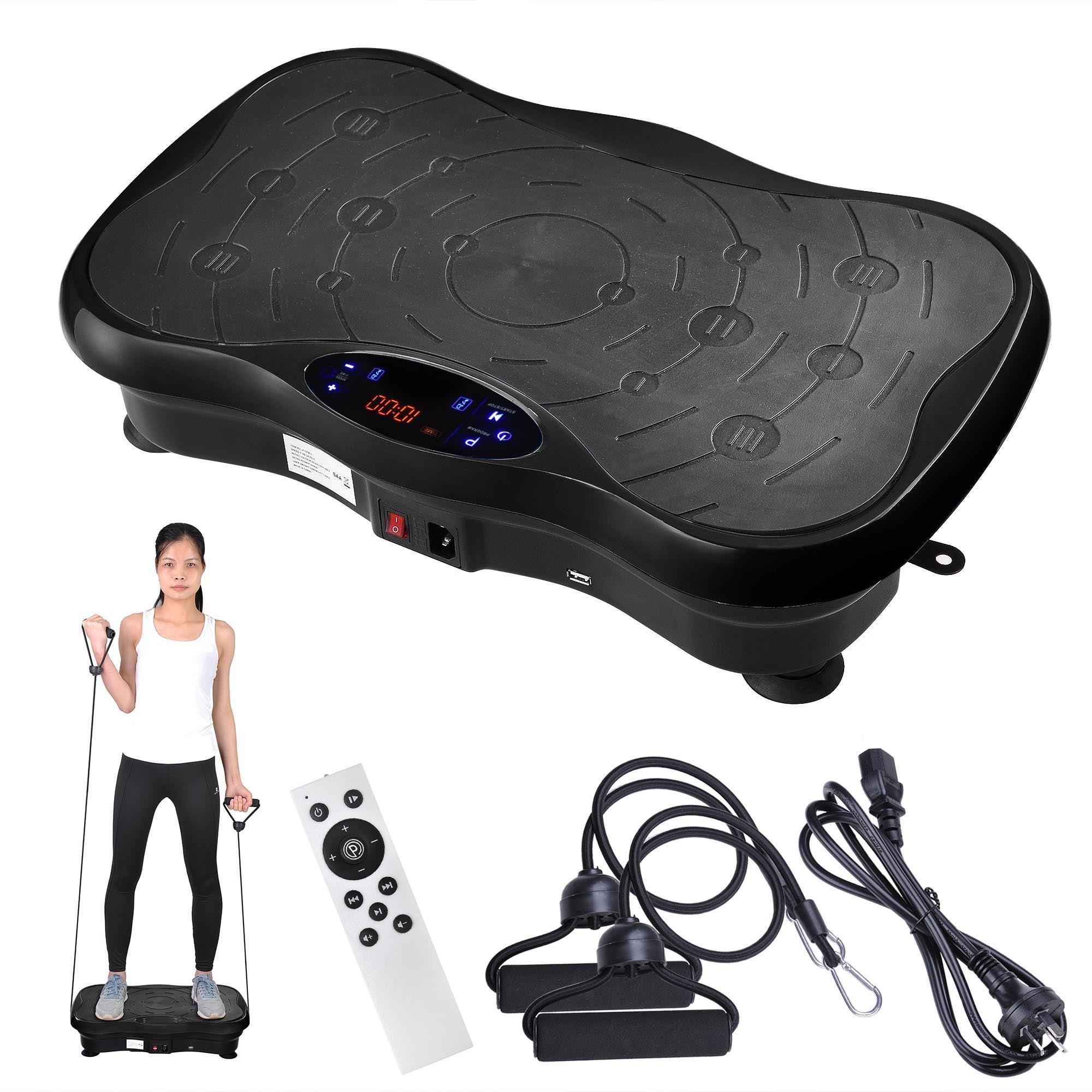 Yescom 3500W Slim Vibration Machine Platform Bluetooth Body Shaper Exercise Black