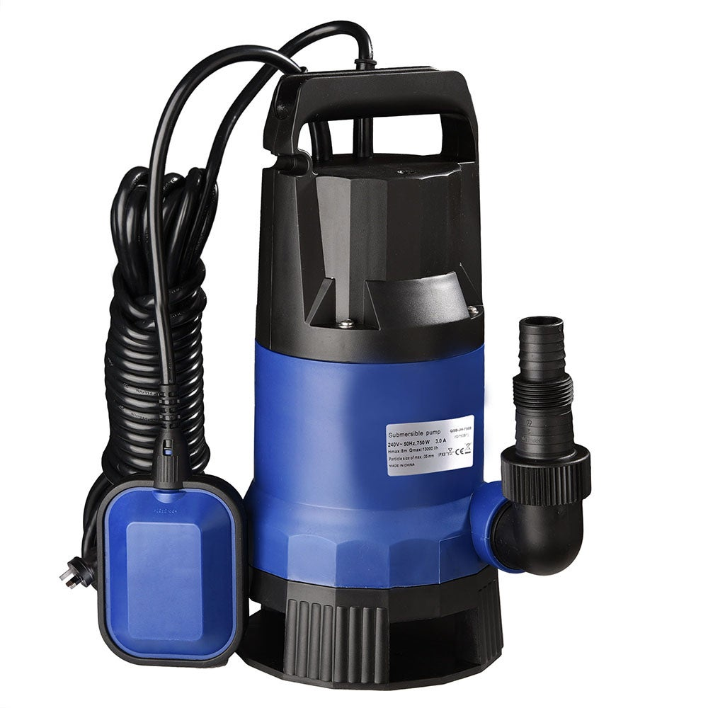 Yescom 750W Swimming Pool Flooding Pond Submersible Dirty Clean Water Pump 13000L/H