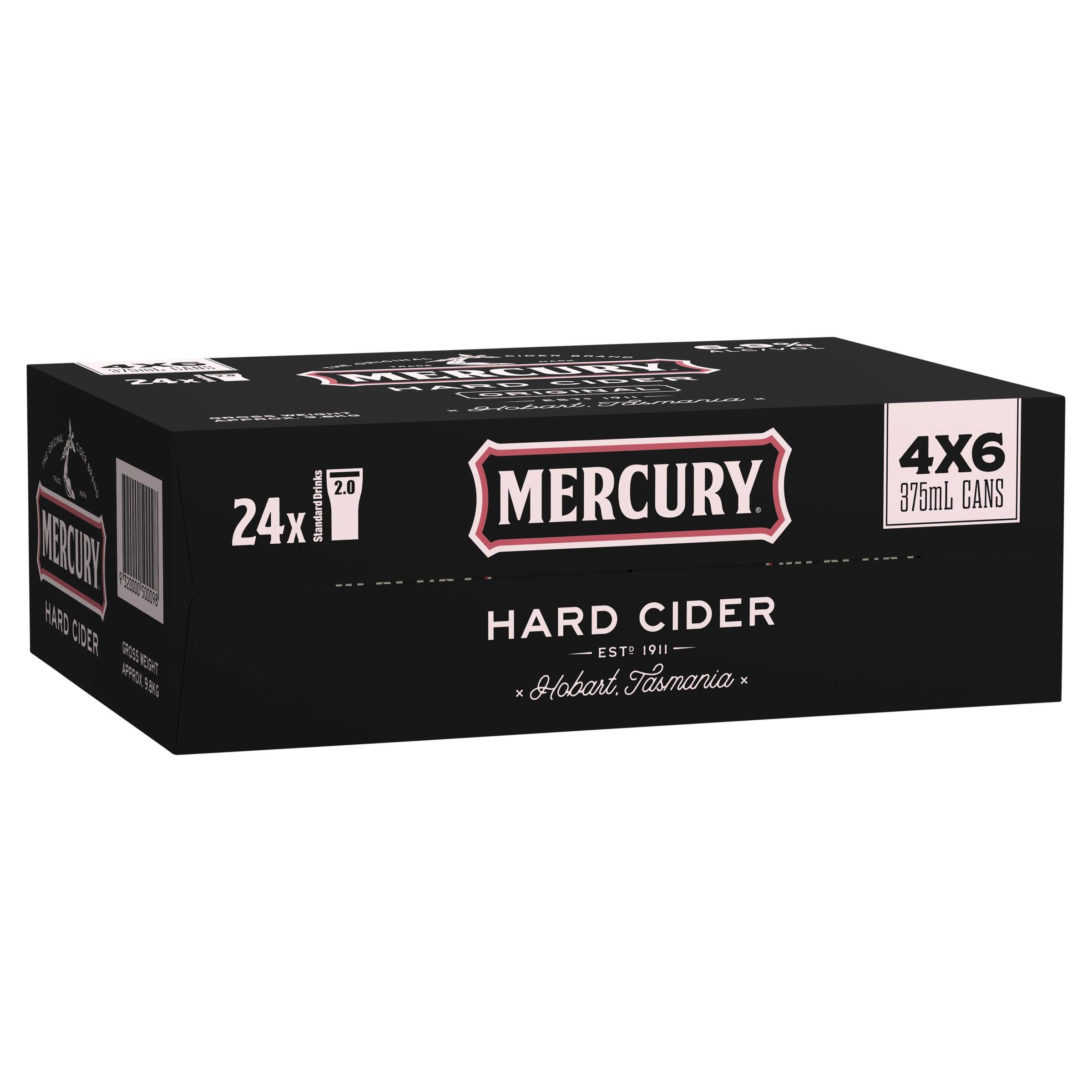Mercury Hard Cider Case 24 x 375mL Cans