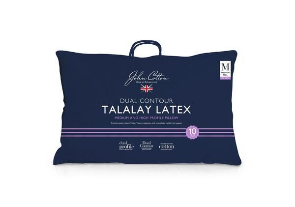 John Cotton Dual Contour Talalay Latex Pillow