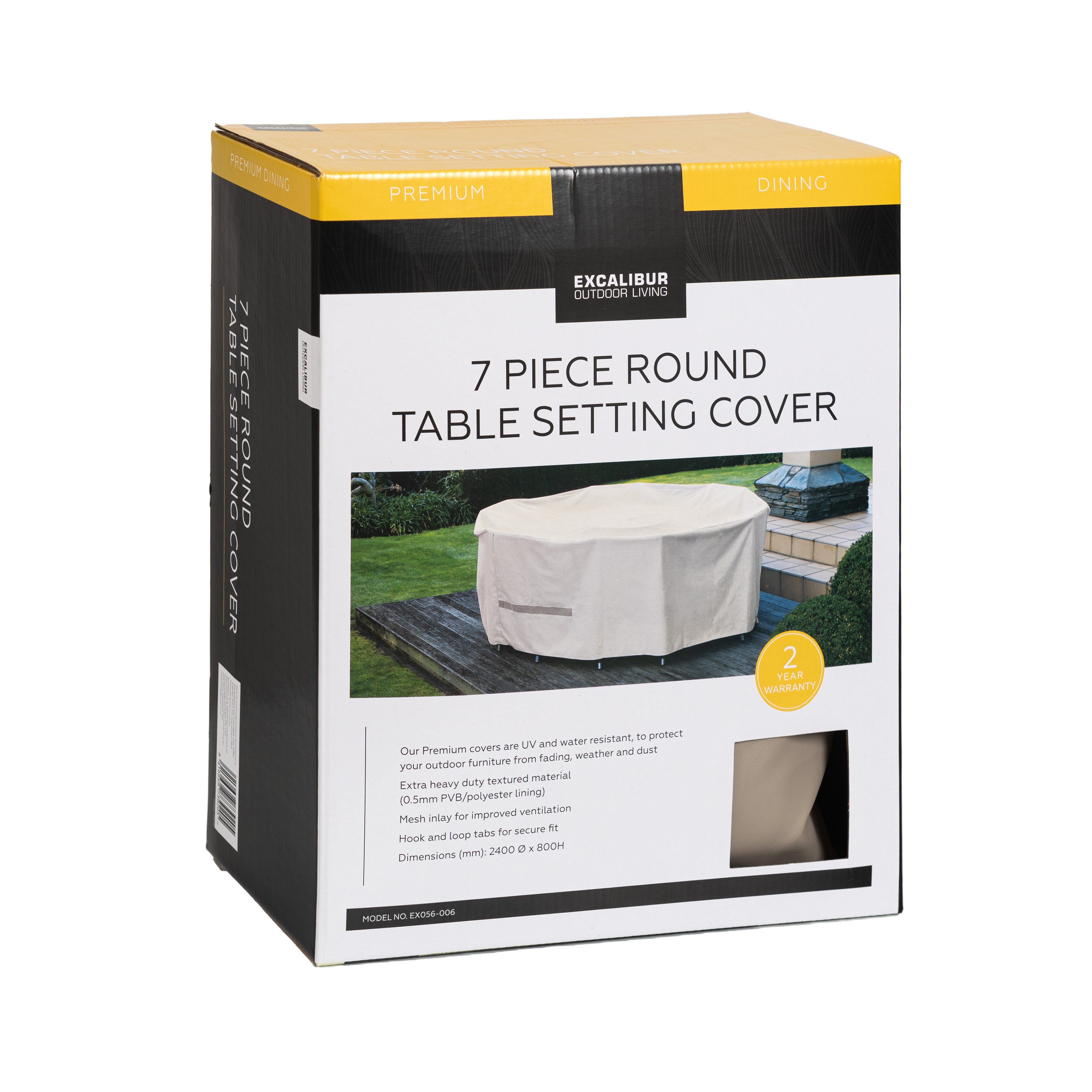 Excalibur Outdoor Living 7 Piece Round Table Furniture Cover