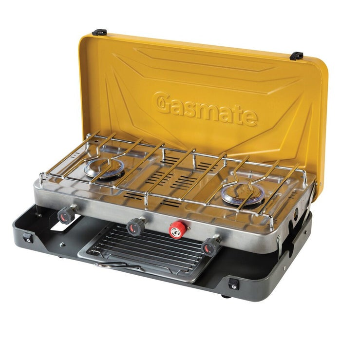 Gasmate 2 Burner Stove With Grill