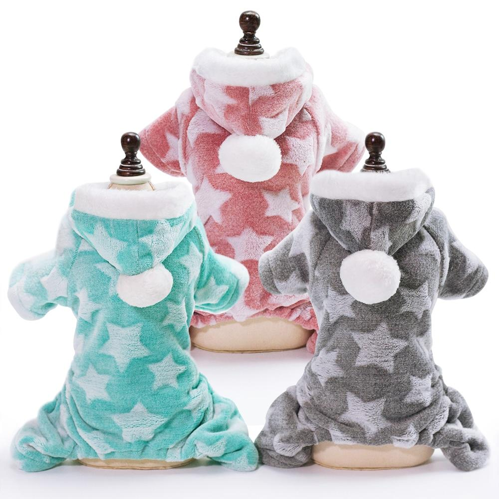 Cute Soft Cat Dog Clothes For Small Dogs Winter Warm Cat Dog Clothing Coat Fleece Dogs Jumpsuit Outfit For Chihuahua Puppy