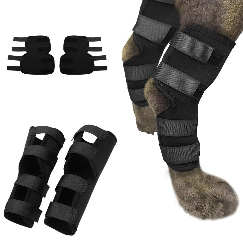 Dog Recovery Sleeve Knee Pad Large Dog Support Ankle Brace Breathable Hind Leg Hock Joint Wrap Injury Recover Dog Legs Protector