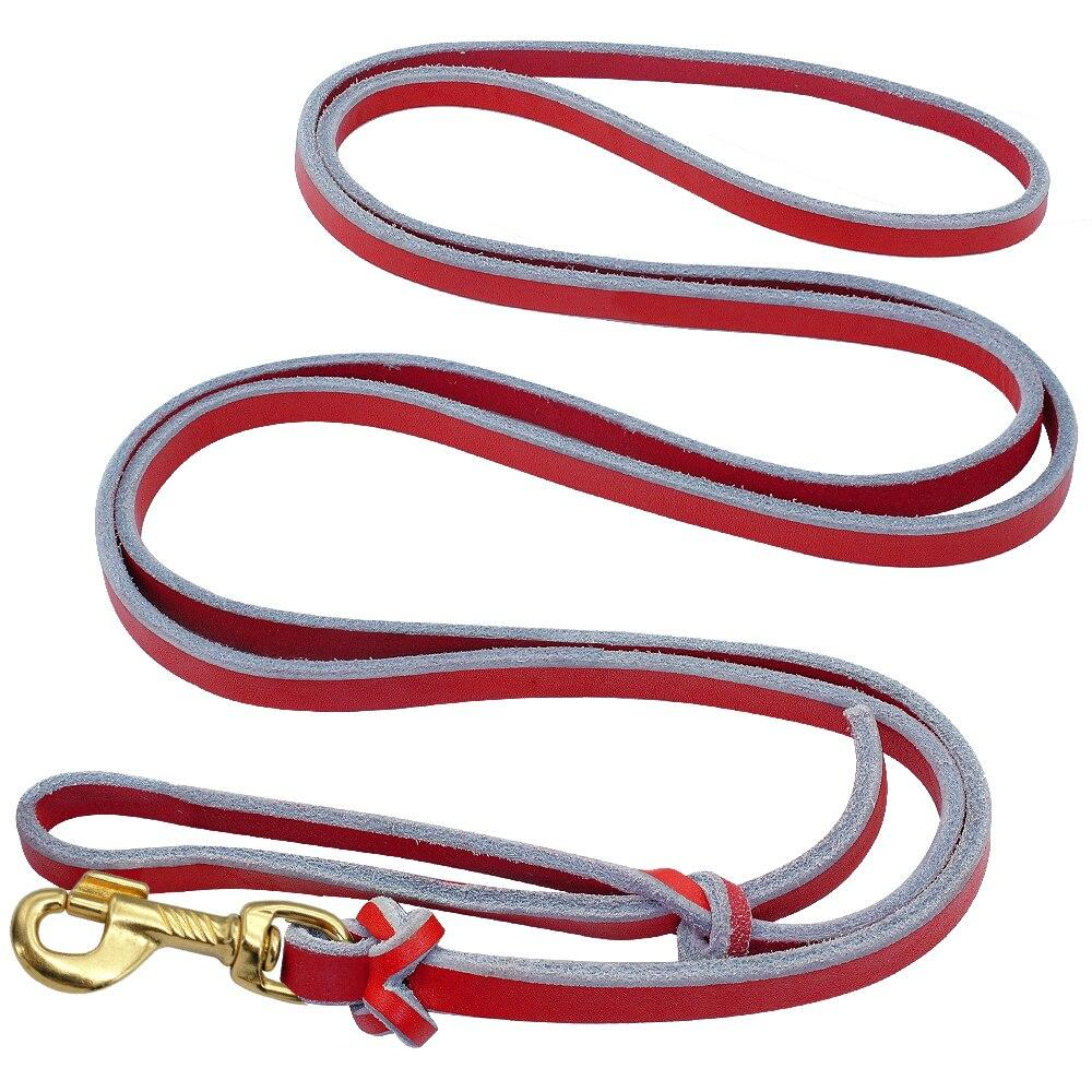 Leash Dog German Shepherd Leather Dog Training Leashes Rope For Large Dogs Red Pet Leads Long For Medium Big Pet