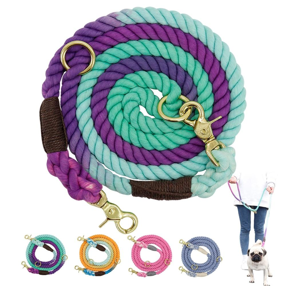 Soft Dog Pet Leash Rope Nylon Small Medium Large Dogs Leashes Long Heavy Duty Puppy Walking Hiking Lead Ropes for Dogs