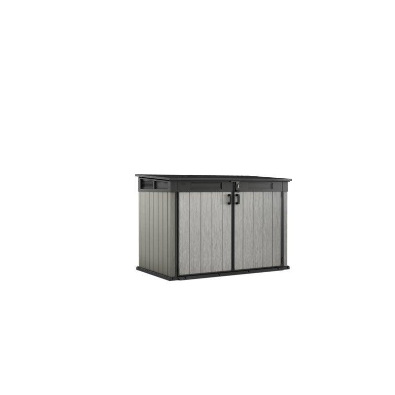 KETER Grande Store Outdoor Storage/Wheelie Bin Shed (Deco Grey/Anthracite)