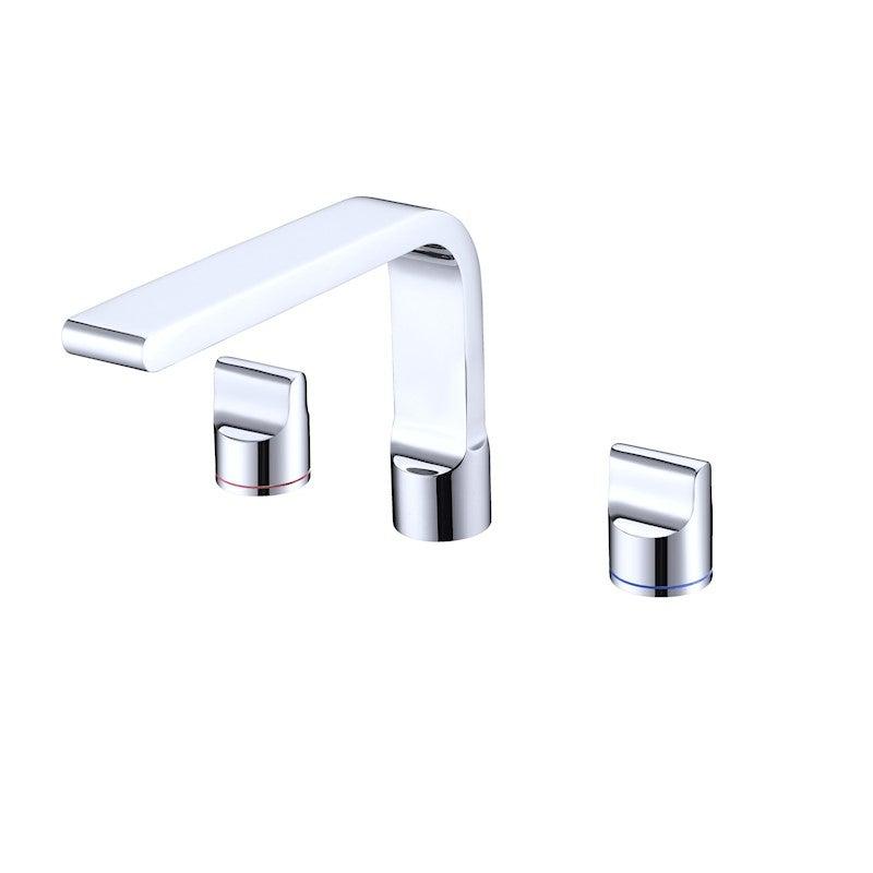 Buckle 3 tap holes basin tap set Chrome