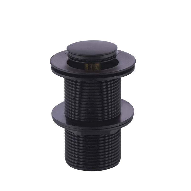 Matt Black Basin Pop Up Plug and Waste 32mm/40mm without Overflow