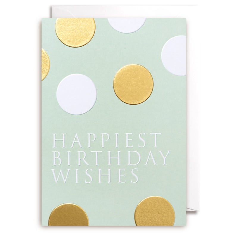 GREETING CARD - HAPPIEST BIRTHDAY WISHES