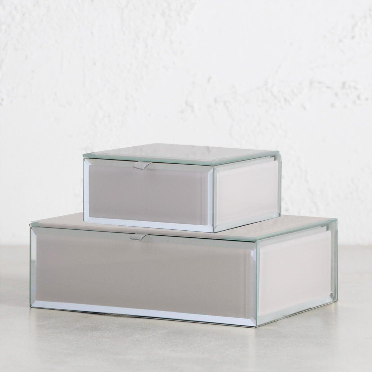 ONE SIX EIGHT LONDON - SARA GLASS JEWELLERY BOX - NUDE BUNDLE