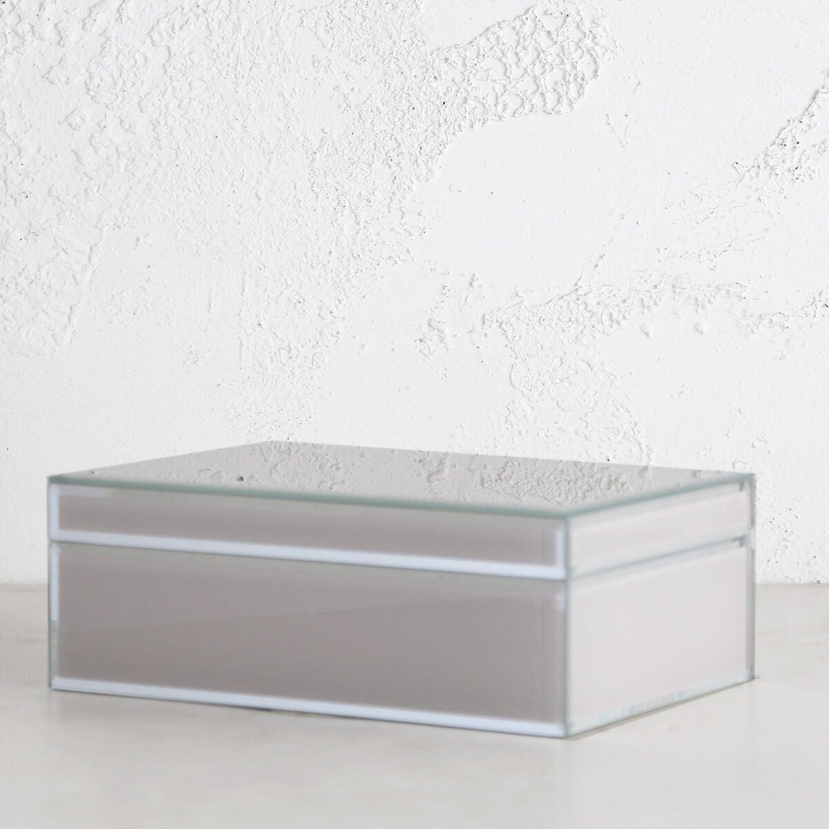 ONE SIX EIGHT LONDON - SARA GLASS JEWELLERY BOX - NUDE LARGE