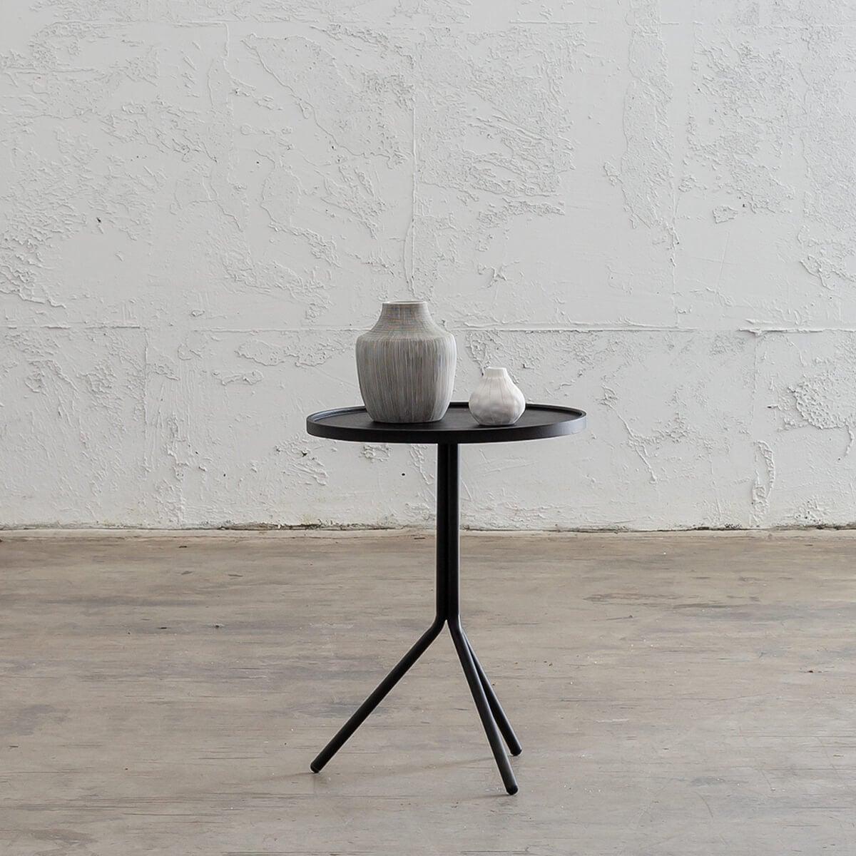 PALOMA OTKA ROUND SIDE TABLE - ANTHRACITE - LARGE
