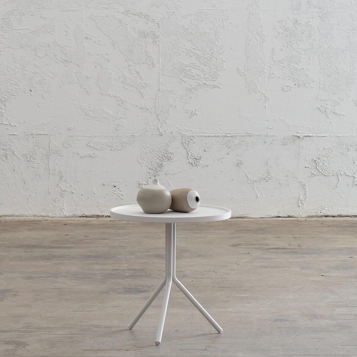 PALOMA OTKA ROUND SIDE TABLE - WHITE - MEDIUM