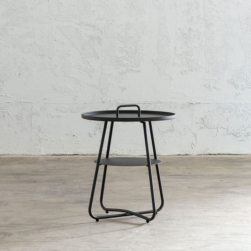 PALOMA SIDE TABLE WITH HANDLE - ANTHRACITE