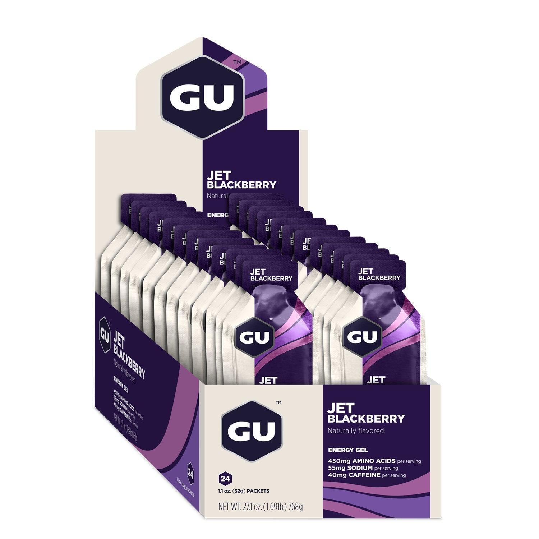 GU Energy Gel - Jet Blackberry - Box of 24