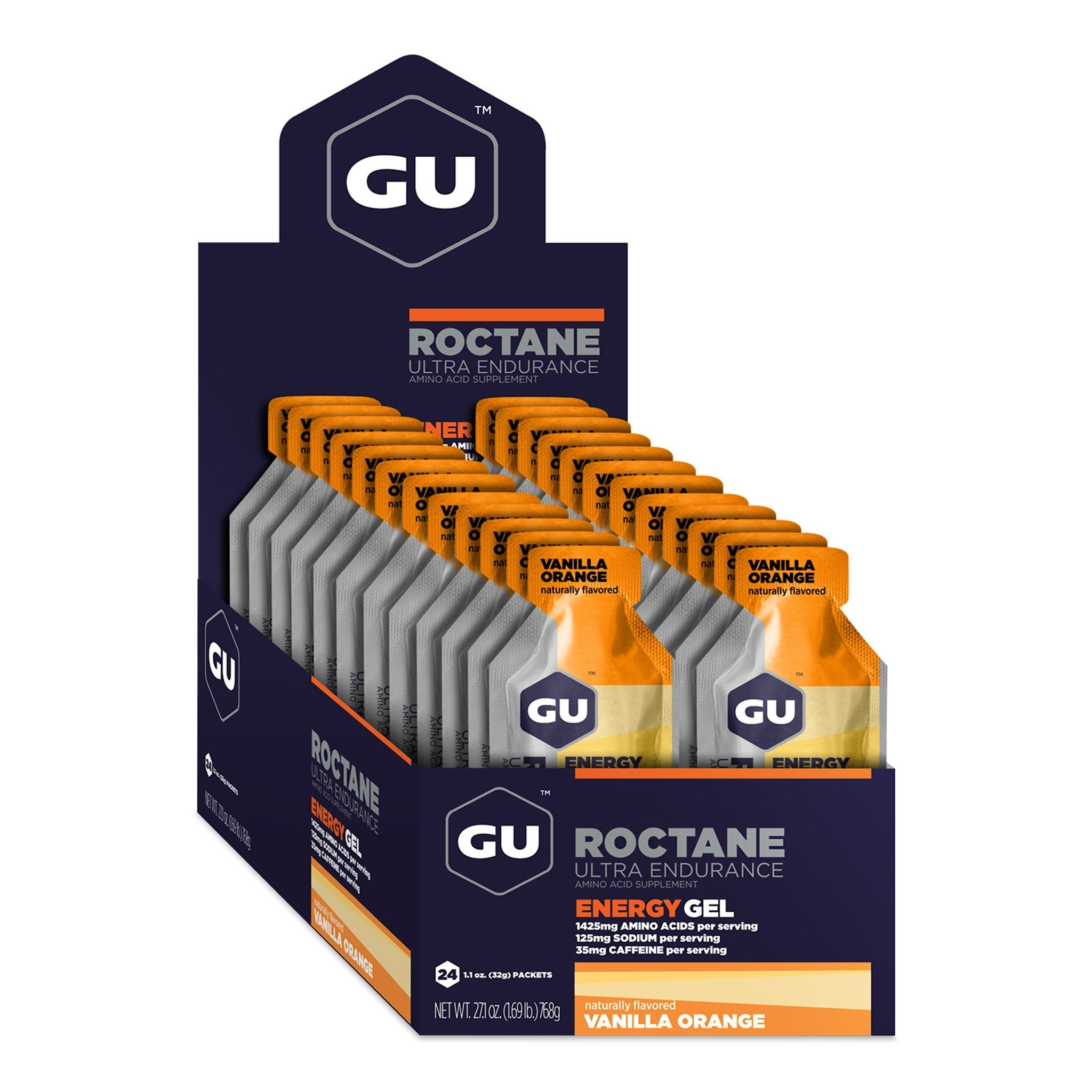 GU Roctane Energy Gel - Vanilla Orange - Box of 24
