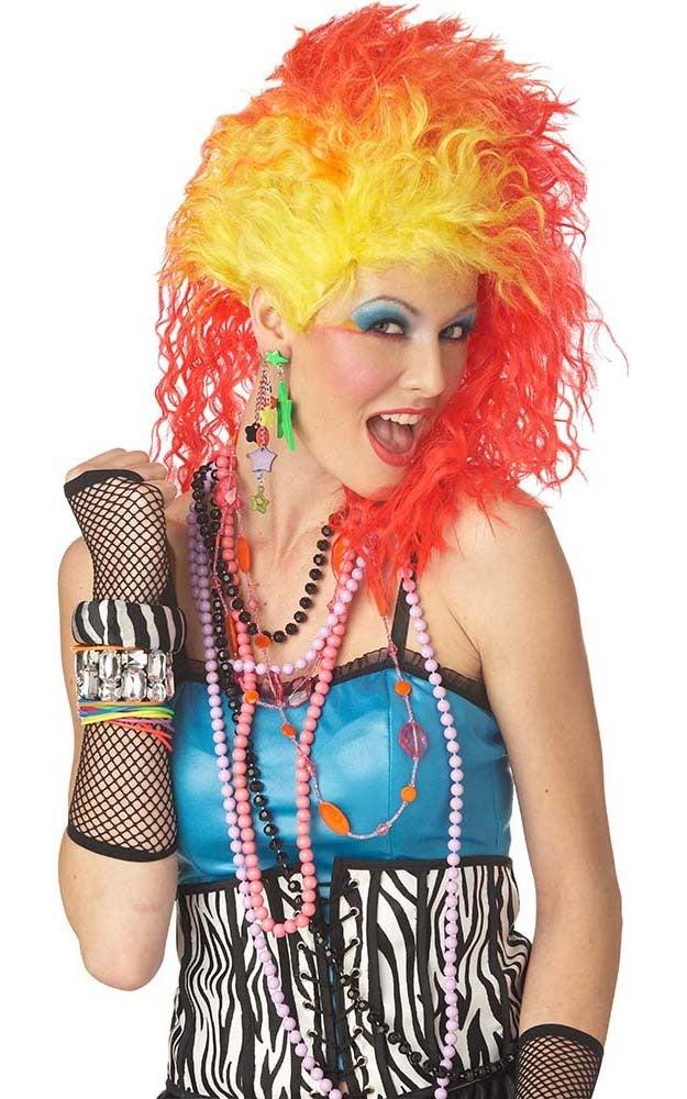 True Colours Adult Cyndi Lauper Wig