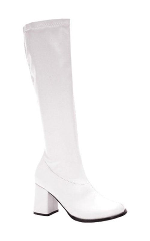 White Retro Go Go Disco Adult GoGO Boots