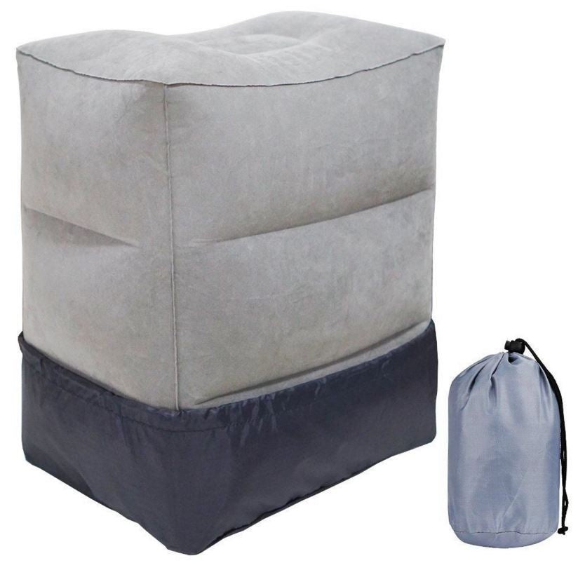 New Inflatable Adjustable Height Travel Foot Leg Rest Pillow for Kids Children