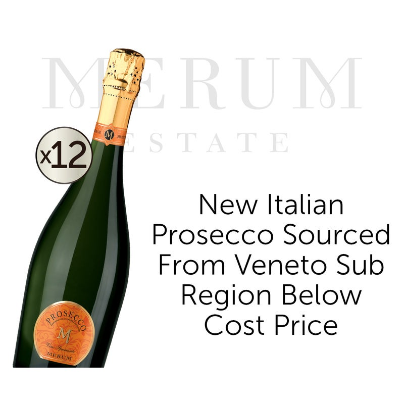 Merum Italian DOC Prosecco NV Dozen