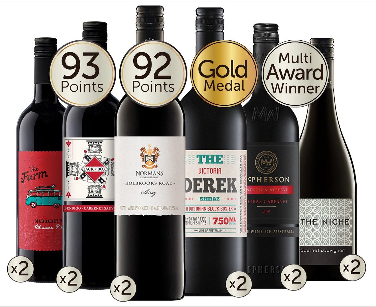 Award-Winning Mixed Red Wine Dozen