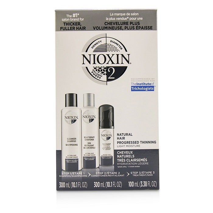 NIOXIN - 3D Care System Kit 2 - For Natural Hair, Progressed Thinning, Light Moisture