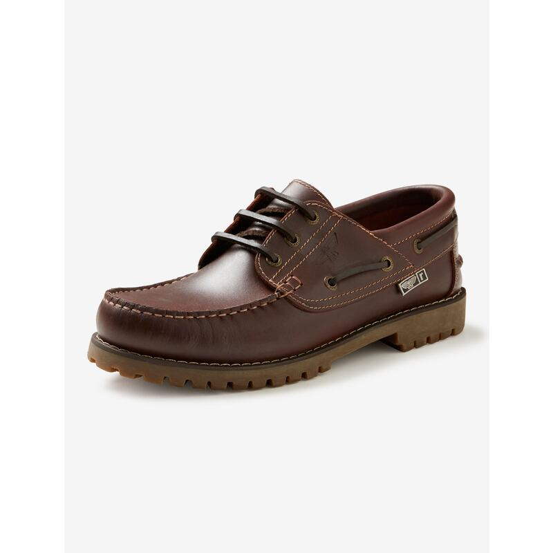 Mens Rivers Leather Boat Shoe