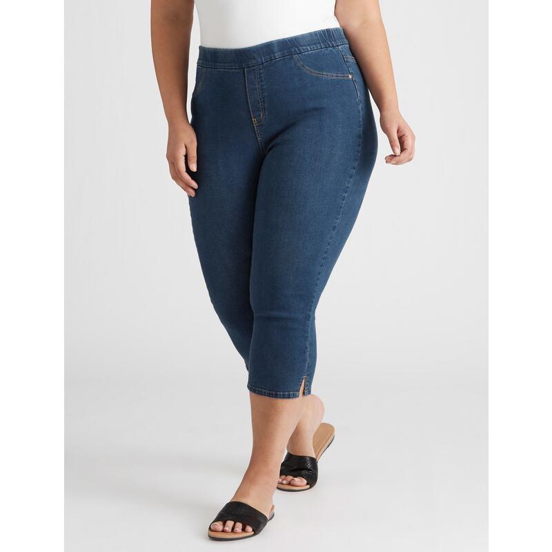 Women's Autograph Easy Crop Jean - Plus Size Curvy