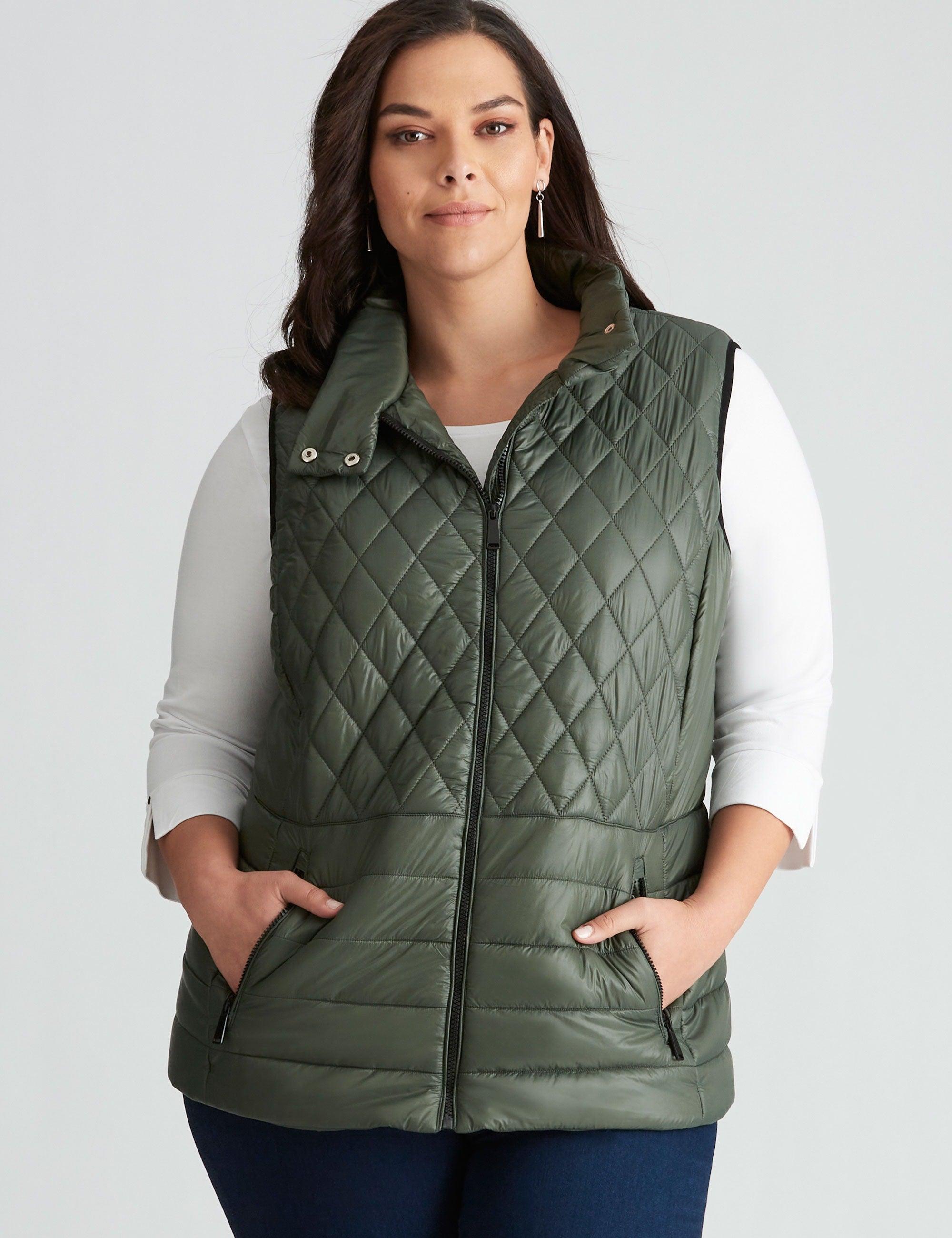 Women's Autograph Puffer Vest - Plus Size Curvy