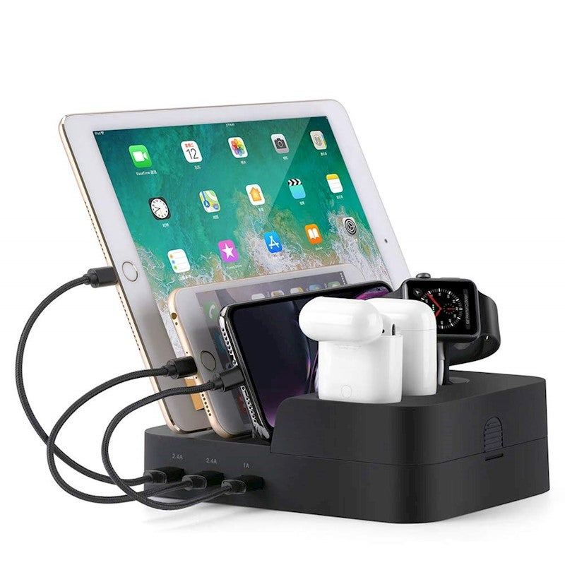 Catzon 6 Port Usb Charging Station Multi Device Usb Charging Dock Station Hub Desktop Charger Stand Devices Buy Wireless Phone Chargers 7681870117376