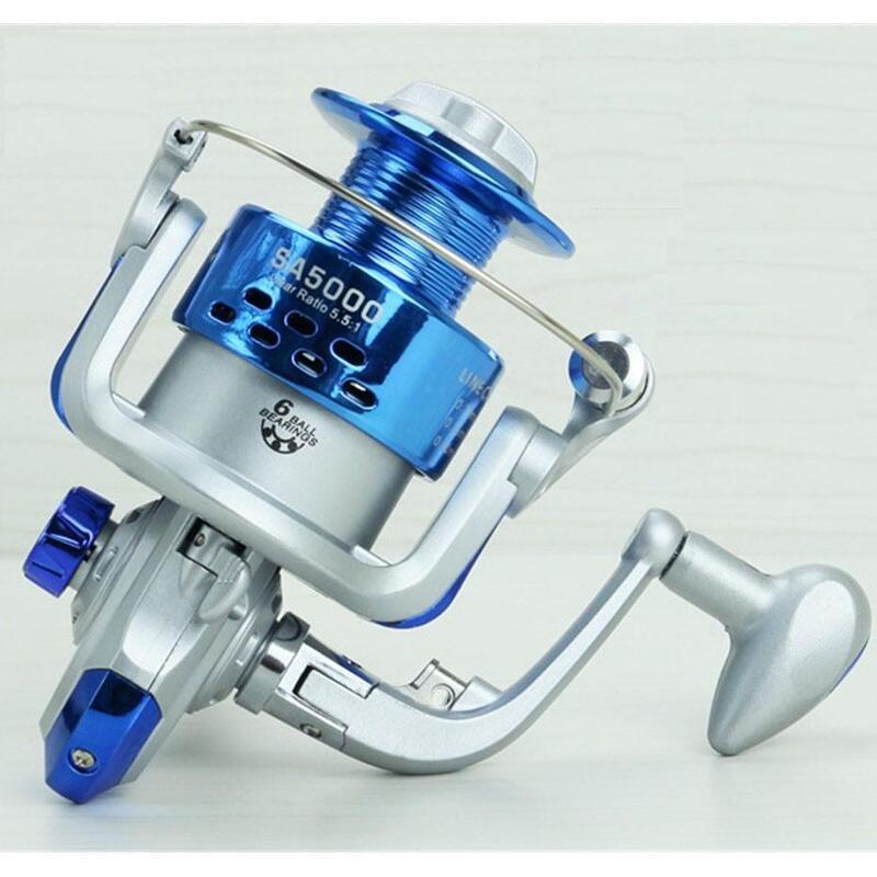 Catzon Blue White 6BB SA1000 -7000 Sea Carp Fishing Reel Spinning Molinete