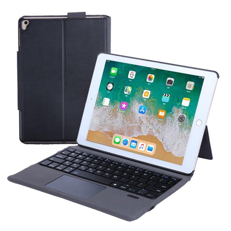 Catzon iPad Keyboard Case 360 Degree Magnetic Detachable Wireless Bluetooth Keyboard-Black