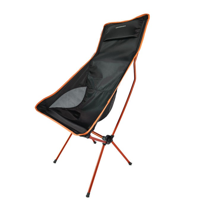Catzon RH96 Camping Chair with Headrest Backpacking Chair Portable Compact Ultralight Outdoor Folding Beach Hiking Chair for Outdoor Beach -Orange