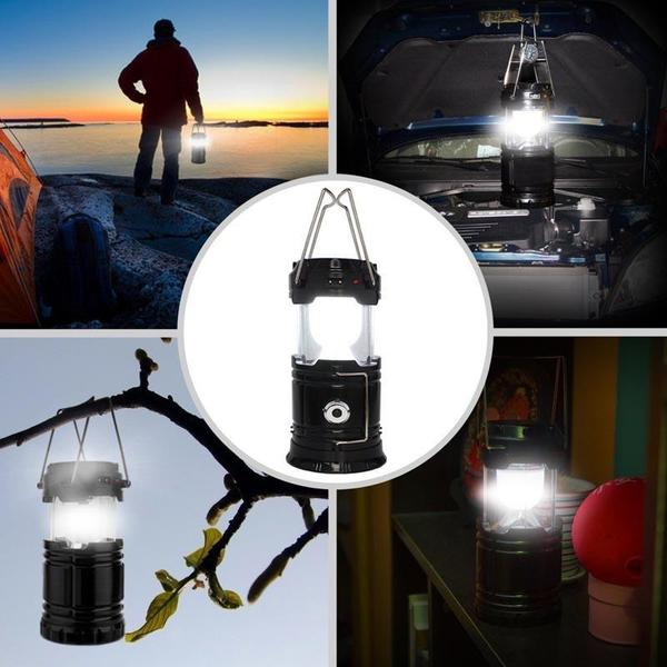 Solar-Powered LED Camping Lantern - Perfect for Hiking, Camping, Emergencies!