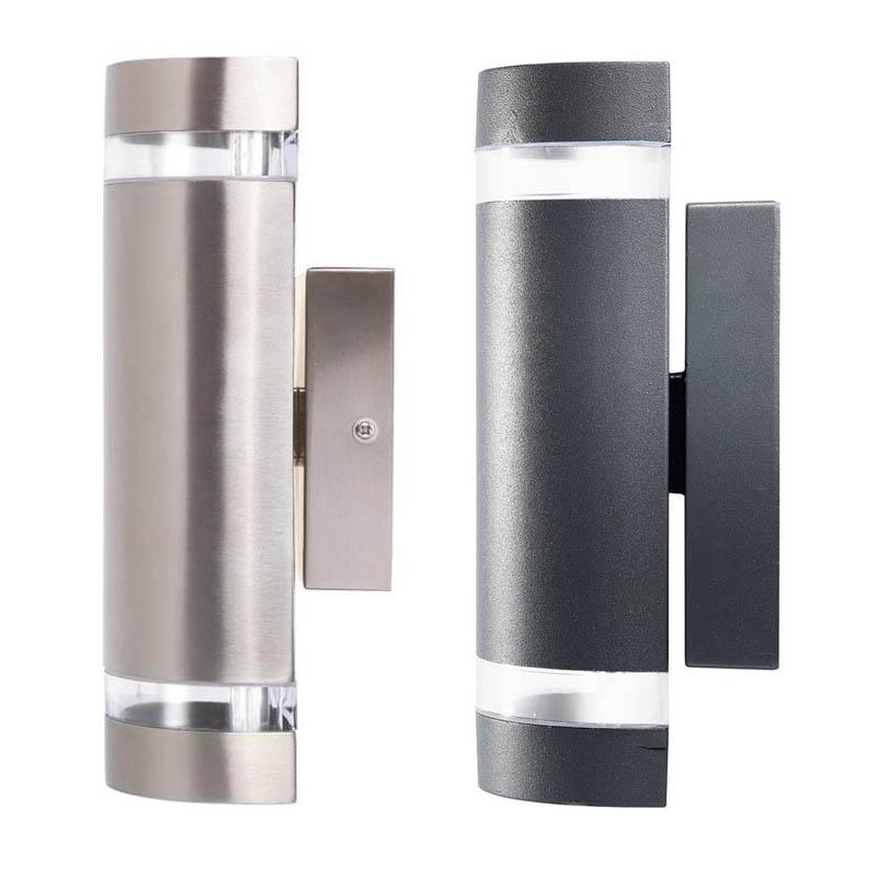 Dormon Exterior Up/Down Wall Light in Charcoal or 304 Stainless Steel