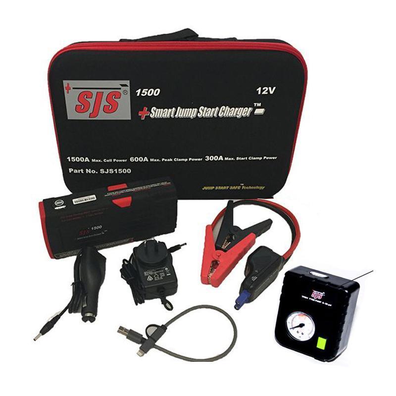 Exelite Smart Jump Start Charger 12V Generation 2 EC5 w/ or w/o Tyre Pump CLA Lighting - PL-SJS1500, PL-SJS1500TP