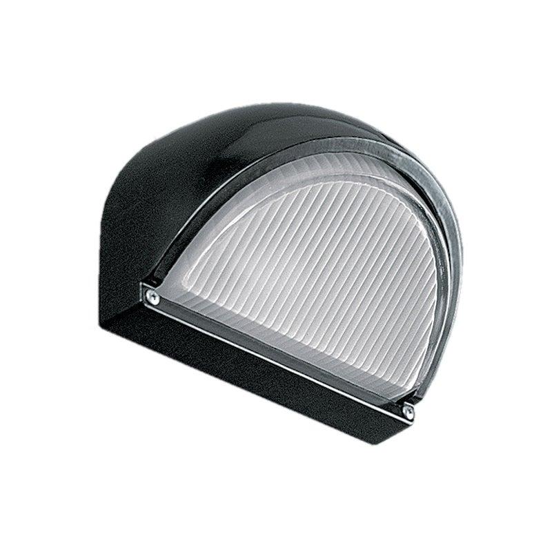 CLEARANCE Half Round Aluminium Bulkhead E27 60w in Black Superlux Lighting - LJ2080