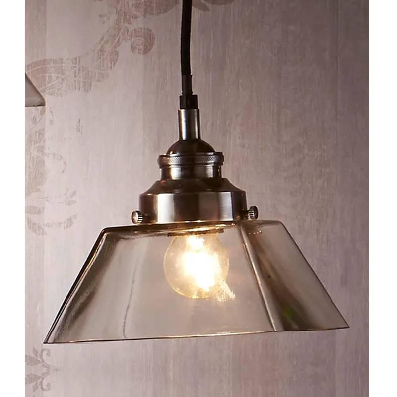 Kent Pendant Light 1x40w E27 in Antique Silver Emac & Lawton Lighting - ELPIM58064AS