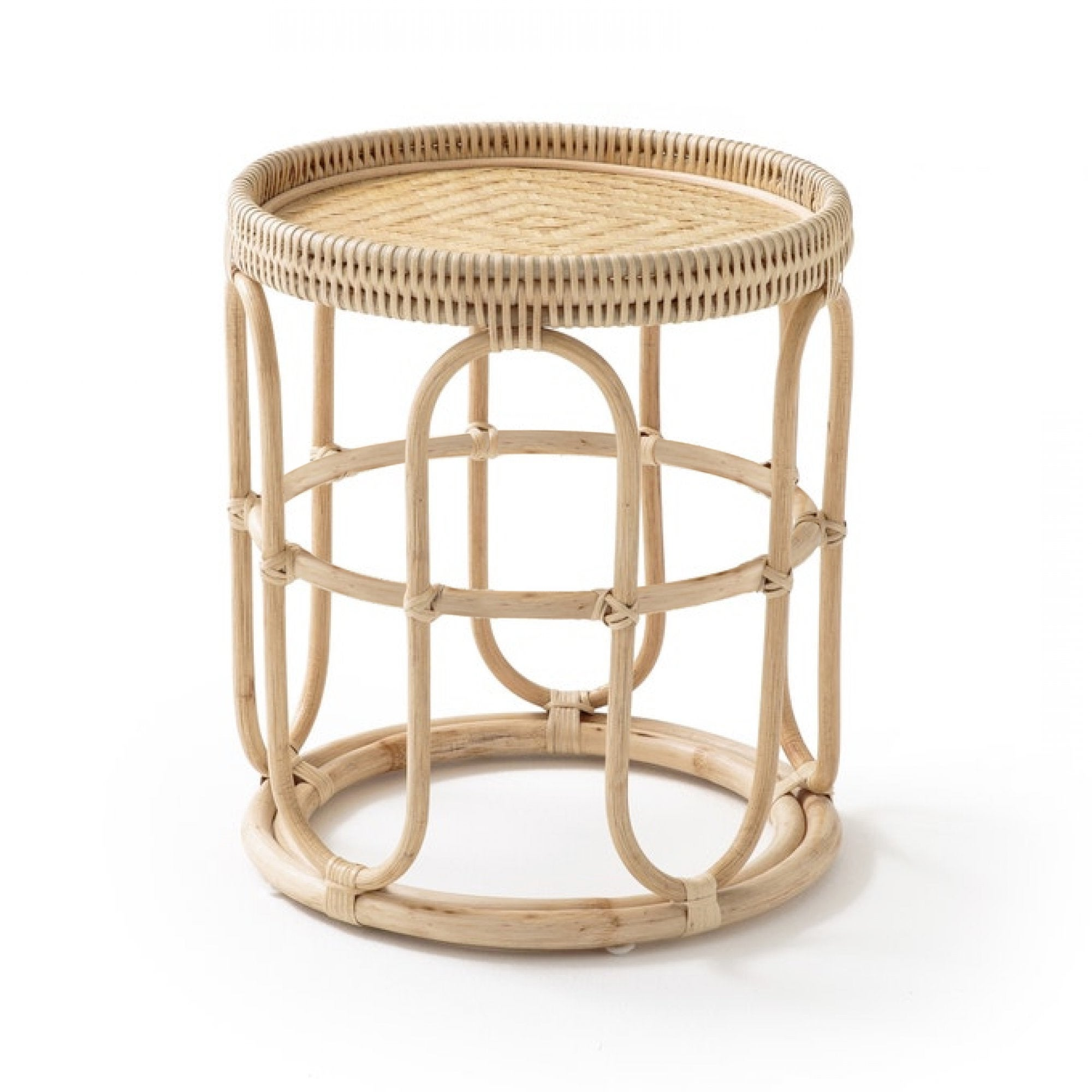 Breeze Viera D45 Natural Rattan Tray Top Side Table Bedside