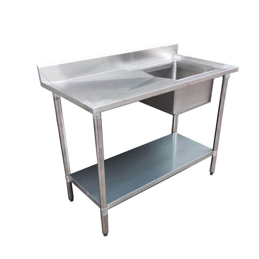 Economic 304 Grade SS Right Single Sink Bench 1500x700x900 with 500x400x250 sink 1500-7-SSBR