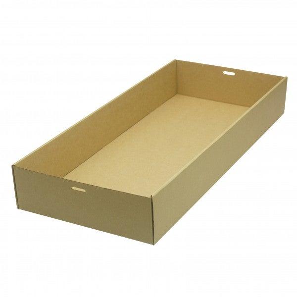 Brown/Kraft Cardboard Large Catering Tray - 252mm - 79mm