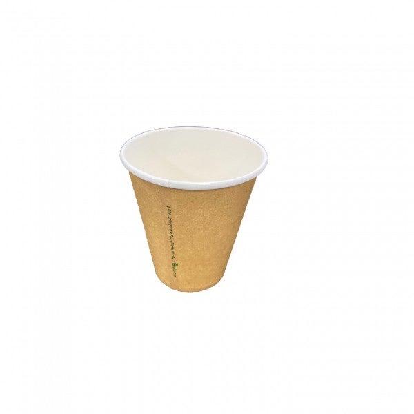 Natural Single Wall Paper Coffee Cups - 62mm top rim - 63mm - 4oz (120ml)